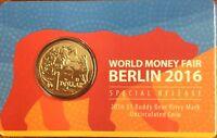 2016 $1 world money fair Berlin - buddy bear privy mark