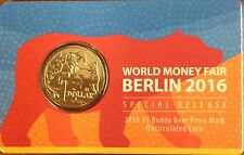 2016 $1 world money fair Berlin - buddy bear privy mark