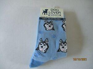 Dog Lover Unisex Socks - One Size Fits All - Siberian Husky - New