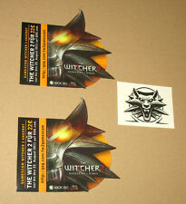 2 x The Witcher 2  Assassins of Kings Sticker & 1 temporary Tattoo Gamescom 2011