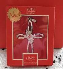 LENOX 2013 ANNUAL CROSS GEMMED SILVER PLATED ORNAMENT BRAND NEW IN BOX