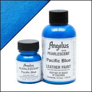 Angelus Acryl Lederfarbe Pearlescent Pazifik Blau (455) 118ml (105,93€/1L)
