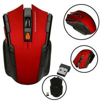 2.4GHz Cordless Mouse Mice Optical Scroll For PC Laptop Computer + USB Wireless