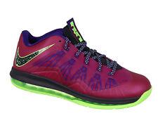 NIKE Air Max Lebron X Low Basketball Shoes sz 11.5 Raspberry Red Court Purple