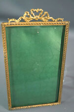 Antique Art Deco Faceted Crystal,Glass&Ribbons Picture Frame Portrait Photo CDV