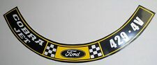 Ford or Mustang  429 Cobra Jet 4V Air Cleaner  Decal  #395