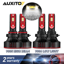 4PC 9006 9005 LED Headlight Bulb A2 For Toyota Corolla 09-2013 RAV4 06-2011 72W