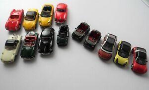 HONGWELL WELLY PORSCHE MINI MERCEDES & OFFICIAL SMART CAR 1/72 SCALE CAR MODELS
