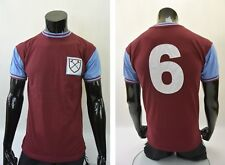 Score Draw West Ham United Home Retro HAMMERS Shirt 1966 Booby MOORE Jersey /S