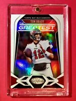 Tom Brady TAMPA PANINI CERTIFIED THE GREATEST SPECIAL INSERT 2020 #G-TB - Mint!