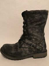Women's Roxy Black Synthetic Distressed Boots Size 5