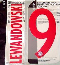 2017-18 FC Bayern UCL THIRD SHIRT Lewandowski #9 numero ufficiale di nome sportingid