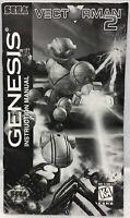 Vectorman 2 Sega Genesis Instruction Manual ONLY 1996