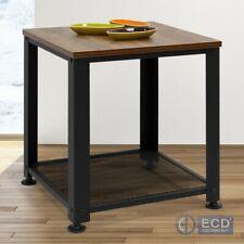 Beistelltisch Nachttisch Couchtische Wohnzimmer Kaffetisch mit Ablage/Regal Holz