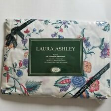Vtg Laura Ashley Twin Fitted Sheet Chinese Silk No Iron Shabby Chic Dan River