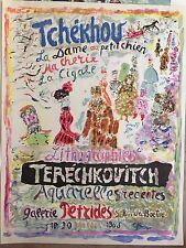 TERECHKOVITCH - RARE AFFICHE LITHOGRAPHIQUE  ORIGINALE SIGNEE 1965 - INTROUVABLE