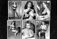 Storm Tempest Postcard Set 2  Pin-Up Girl Nylon Stockings Erotic Burlesque Strip