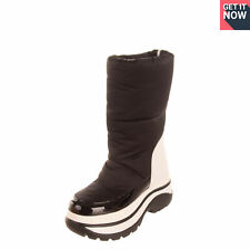 RRP €610 MICHAEL MICHAEL KORS Snow Boots EU 37 UK 4 US 7 Two Tone Logo Quilted