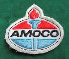 VINTAGE AMOCO OIL & GAS SERVICE STATION ATTENDANT UNIFORM PATCH ~ NR