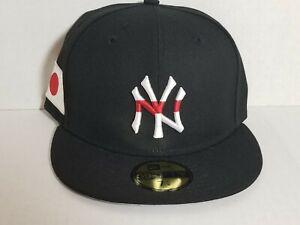 New York Yankees Japan Flag New Era 59Fifty Hat Sz 7 1/8 Gray UV New 100% Wool