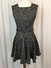 Asos Petite Womens Dress Sleeveless Pleated Geometric Design Colored Zipper Sz 6