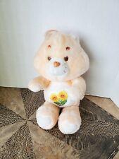 """Care Bears Vintage 1983 Sunflowers Peach Kenner Friend Bear Teddy Plush 13"""""""