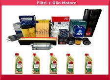 Kit Filtri 4 Pz+5 Lt.Olio Castrol 5W30 Edge Tagliando Bmw Serie 1 118 D 90 kW