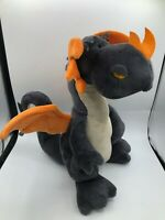 Official NICI Black Orange Flying Dragon Plush Kids Soft Stuffed Toy Doll Animal