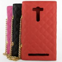 Wallet Pouch Purse Phone Cover Case w/ LCD Screen for Asus Zenfone 2 Laser 5.5""