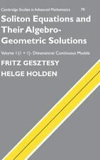 Soliton Equations and their Algebro-Geometric Solutions: Volume 1, (1+1)-Dimensi