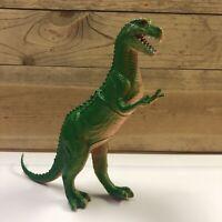 "Vintage Imperial 1985 T-Rex Green Tyrannosaurus Rex 8"" Rubber Dinosaur Figure"