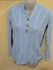 Covington Light Blue Sweater Hoodie Size Small S Long Sleeve Buttons Used Good
