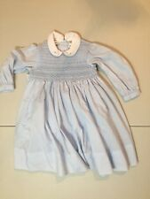 Sarah Louise England Girls dress size 18M blue handsmocked stitched special cute