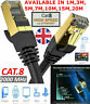 RJ45 Cat8 Network Ethernet Cable Gold 40Gbps Internet SSTP LAN Lead LOT UK