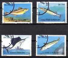 Poissons St Thomas et prince (41) série complète de 4 timbres oblitérés