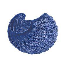 """Andrea SADEK Ceramic 10.5""""L Nautilus Shell Chip Dip Bowl Cobat Blue #21378 NIB"""