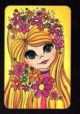 Vintage Swap/Playing Card - Lovely Big Eyed Girl
