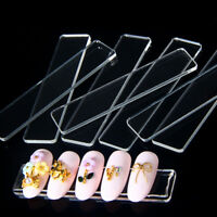 10x Clear False Nail Tips Display Stand Holder Protective Film Manicure Tool HF