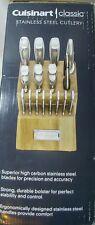 Cuisinart 17-Piece Stainless Steel Cutlery Knife Block Set Acacia Wood Block