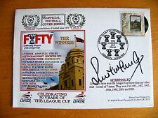Steve McManaman firmado autógrafo Primer Día Cubierta Fdc Liverpool League Cup & cert. de autenticidad