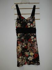 Motel New Womens Peach Wall Flower Erica Dress Large NWT