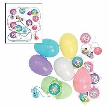 "Jumbo Toy-Filled Easter Pastel Eggs (24 Pack) 3 1/4"" 1 Toy and 1 Sticker Each"