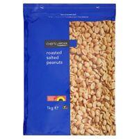 Chef's Larder Roasted Salted Peanuts 1 kg Bag - UK SAVOURY SNACKS