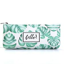 Palm Leaves Makeup Bag Tropical Cosmetic Case Pouch for Women Girl Pencil Case