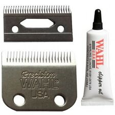 Wahl 2 Hole Precision Clipper Replacement Blade SET With FREE Oil
