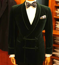 Men Elegant Luxury Stylish Designer Green Smoking Jacket Party Wear Blazer UK
