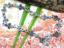 Triskèle Triskel Cuir Rune Païens Secret Bdsm Symbole Celtique Bracelet Rigide