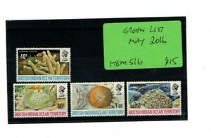 1972 BRITISH INDIAN OCEAN TERRITORY - CORAL MINT STAMP SET FROM COLLECTION B14