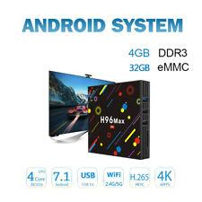 2018 H96 Max 4GB/32GB 4K RK3328 Quad-Core Android 8.1 TV Box 4G DC Dual WiFi