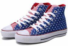 CONVERSE CHUCK TAYLOR ALL STAR HI TOP BOOTS STARS STRIPES USA FLAG UK 3 4 5 6 7